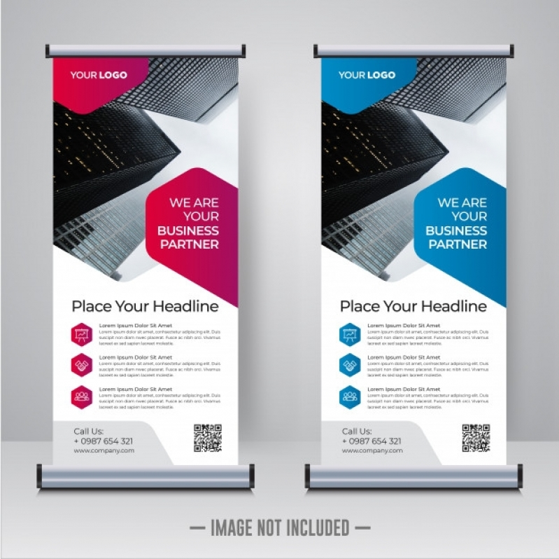 Onde Fazer Impressão Digital Banner Cerrado - Banner Impressão Digital